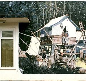 Mural #11 — Temporary Homes