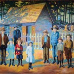 Mural #17 — First School House,1883