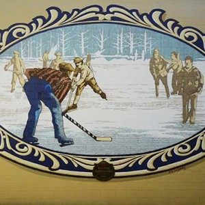 Mural #39 — Skating on Fuller Lake