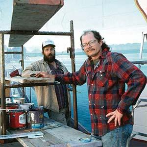 Douglas and Mural artist, Robert Dafford