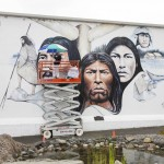 Native Heritage Mural before-after