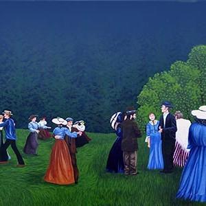 Mural #41 — Chemainus Outdoor Gathering