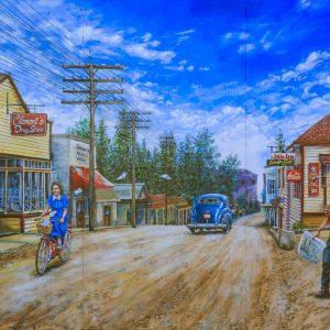 Mural #45 — Chemainus Road - Circa 1945